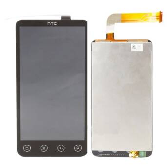 HTC EVO 3D FULL SET DIGITIZER+LCD CZARNY / BLACK